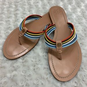 Tory Burch Sienna Strappy Thong Sandals Size 11